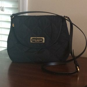 Marc Jacobs Black Nylon Quilted Crossbody Bag